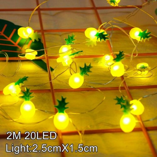 1.5-3M LED Flamingo String Light Baby Birthday Party Decor Pineapple Wedding //ma