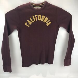 Hollister-Mens-Long-Sleeve-Shirt-Athletic-Division-Maroon-Size-Small