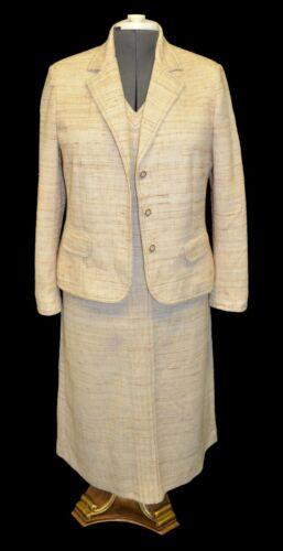 Butte Vintage 60s Beige Knit Dress and Blazer Jack