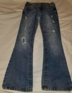Aeropostale-Hailey-Skinny-Flare-distressed-jeans-size-00-SHORT