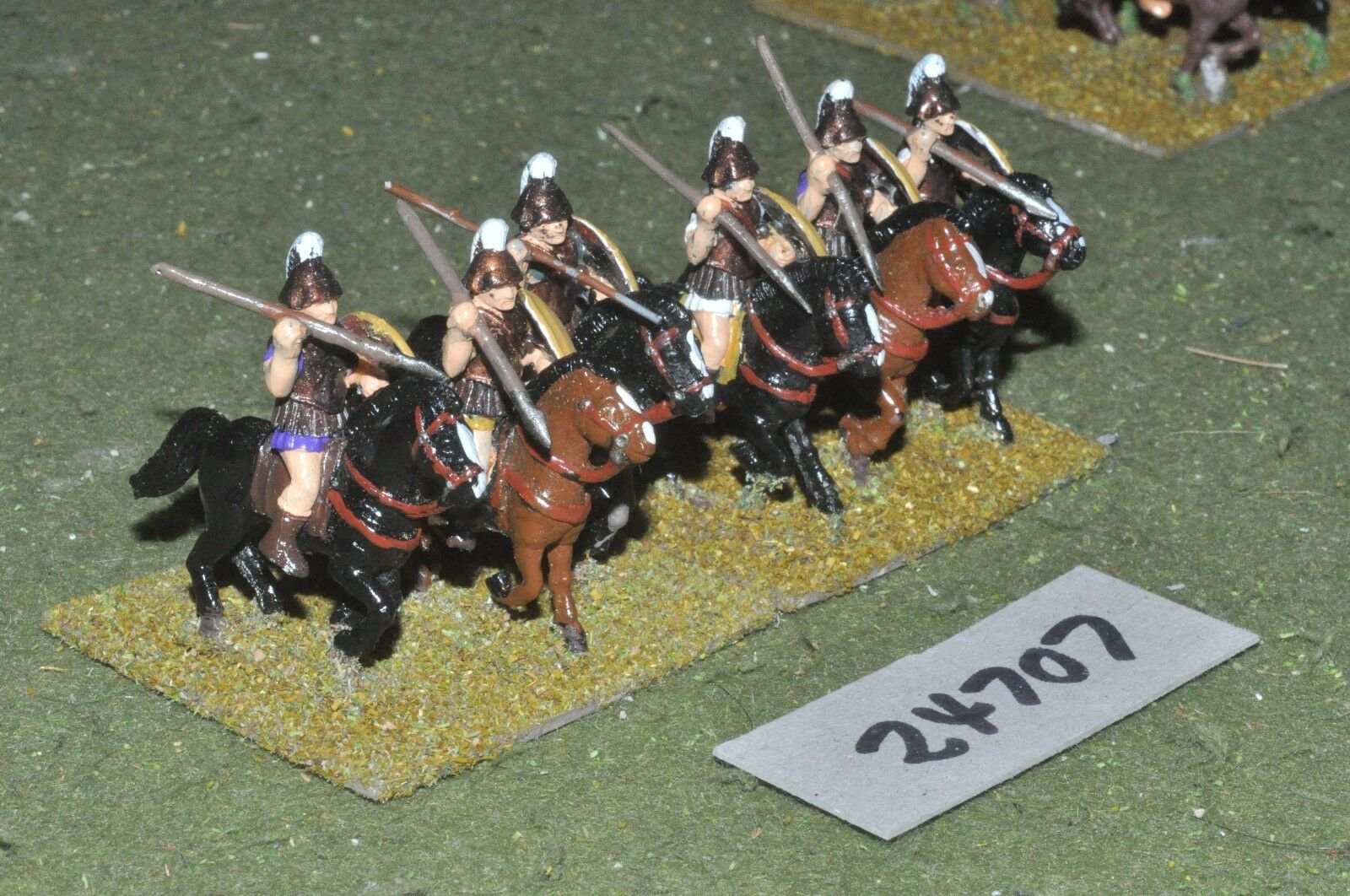 25mm classical   greek - heavy 6 figures - cav (24707)