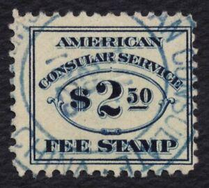 #RK18 Consular Service Tarifa, Canceled Americano Consulate-China 1925
