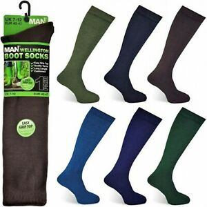Mens-Wellington-Boot-Over-Calf-Socks-by-David-James-7-12-EU-40-47