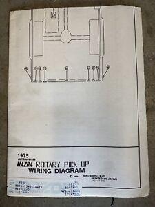 Vintage Mazda 1975 Rotary Pick Up Wiring Diagram   eBay