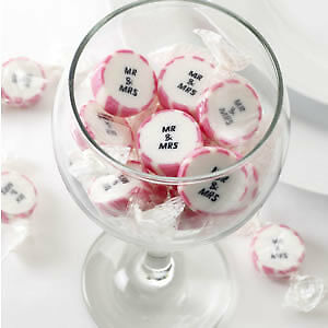 Wedding Rock Sweets Just Married Mr /& Mrs Pink Silver Gold Party Favours Sweets