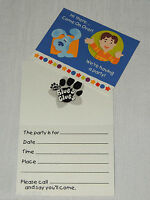 Blue's Clues 8-invitations & Thanks Cards W/ Envelopes Party Supplies