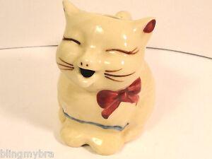 Vintage-Puss-039-n-Boots-Small-Cat-Creamer-Fredricksburg-Art-Pottery