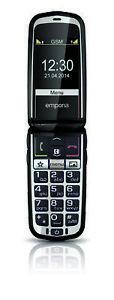 emporiaGLAM-Schwarz-Klapphandy-Aussendisplay-Bluetooth-Notruftaste-2-MPix-NEU-OVP