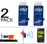Ice Fishing Tip Up Alert W/ Lights + Blue Tooth Notification To Phone (2 Pack)
