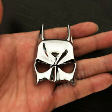 3d Metal Chrome Batman Dark Knight Mask Face Car Emblem Badge Decal Sticker