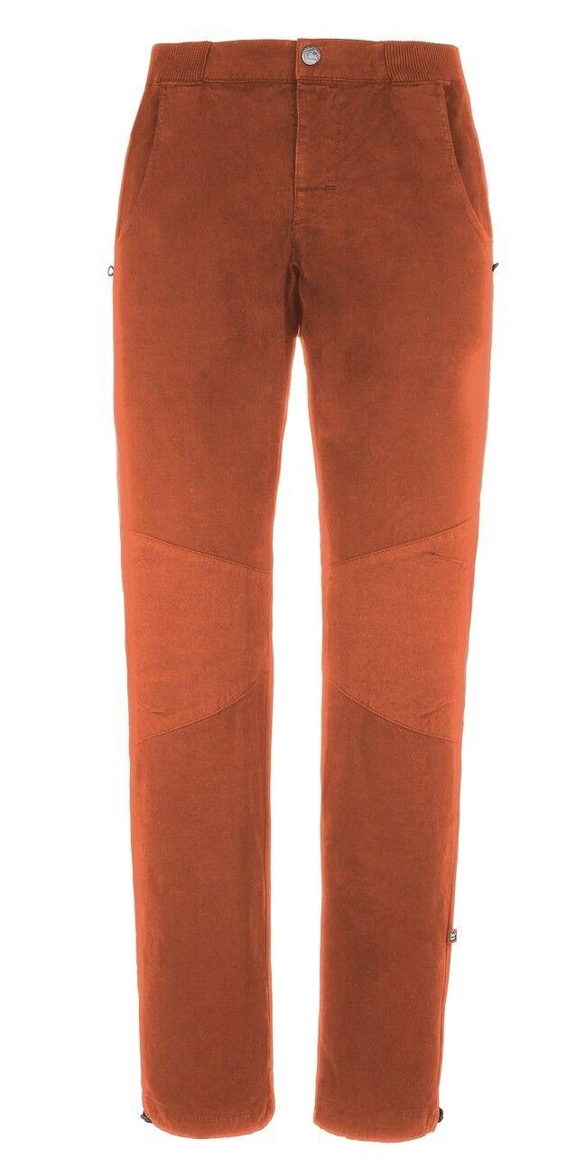 E9 GU18 Inverno Pantaloni per Arrampicata per Uomo Mattone TAGLIA XS