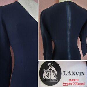 authentic lanvin paris dress wiggle pinup corset bodycon