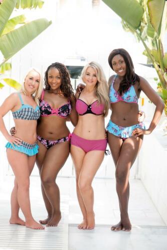 Curvy Kate Starry Eyed Short Bikini Bottoms Flamingo10-24 Womens