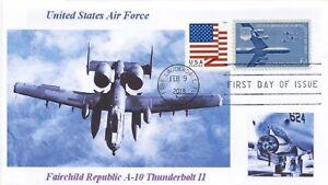 A-10-Rayo-II-US-Air-Force-Ataque-Avion-Color-Foto-Cachet-Primer-Dia-Pm