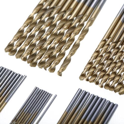 HSS Spiralbohrer Bit Bohrer Set Ø 1-3mm Stahlbohrer Metallbohrer Titan KG 50tlg