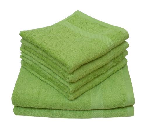 Handtuch Farbwahl Bio Frottee Baumwolle Ökotex100 Gästehandtuch Größe 50x100 BWI