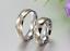 Coppia-Fedi-Fede-Fedine-Anello-Anelli-Fidanzamento-Nuziali-Oro-Acciaio-Zircone miniatura 3