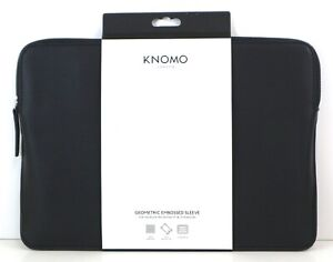 5e8b907f830c Details about Knomo 14-207-BPU Embossed Sleeve for 13-Inch MacBook  Air/Pro/Ultrabook - Black