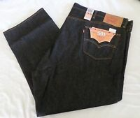 Mens Size 54w 29l Levi's Original Fit 501 Shrink-to-fit Jeans Button Fly
