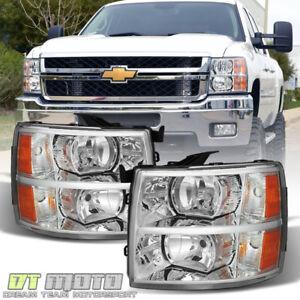2007-2013-Chevy-Silverado-1500-2500-3500-Replacement-Headlights-Headlamps-Pair