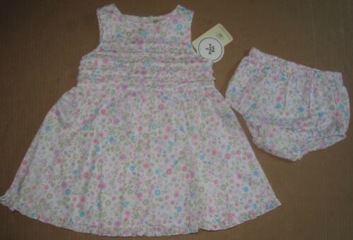 LAURA ASHLEY 2 Piece Ruffled Sleeveless Dress Bloomers 100/% Cotton NWT!
