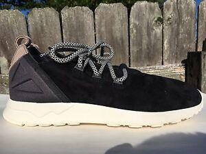aee42c76b Men s Adidas Originals ZX Flux ADV X Black Khaki White Suede Size ...