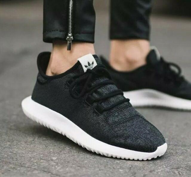 Size 9.5 - adidas Tubular Shadow Black White