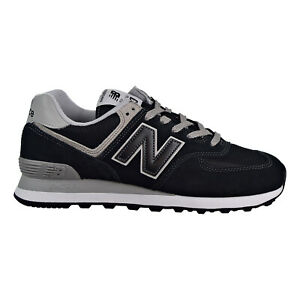New-Balance-574-Men-039-s-Shoes-Black-Grey-ML574-EGK
