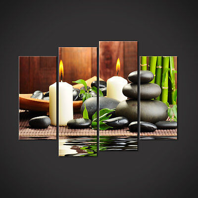 Wall Art Canvas Giclee Print Spa Candles Zen Colorful Picture Decor Print 2