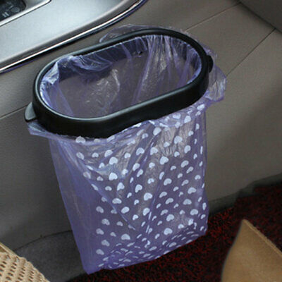 Auto Car Garbage Trash Carry Bag Clip Car Sucker Trash Can Rack Hanger Support B