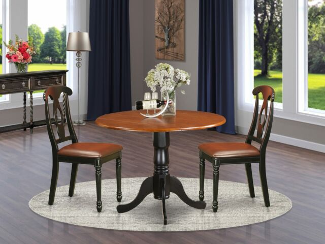 East West Furniture Dublin 5 Piece Drop Leaf Dining Table Set With Vancouver For Sale Online Ebay