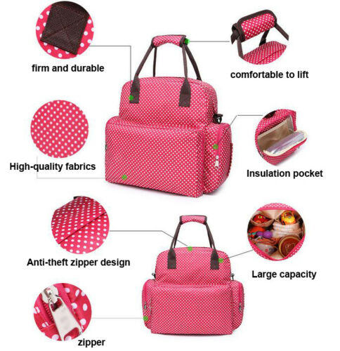 Large Capacity Mummy Bag Baby Diaper Nappy Maternity Changing Travel Backpack#DE