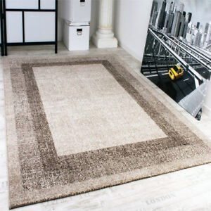 Remarkable Details About Modern Rug Small X Large Brown Beige Border Carpet Area Dining Room Floor Mats Download Free Architecture Designs Grimeyleaguecom