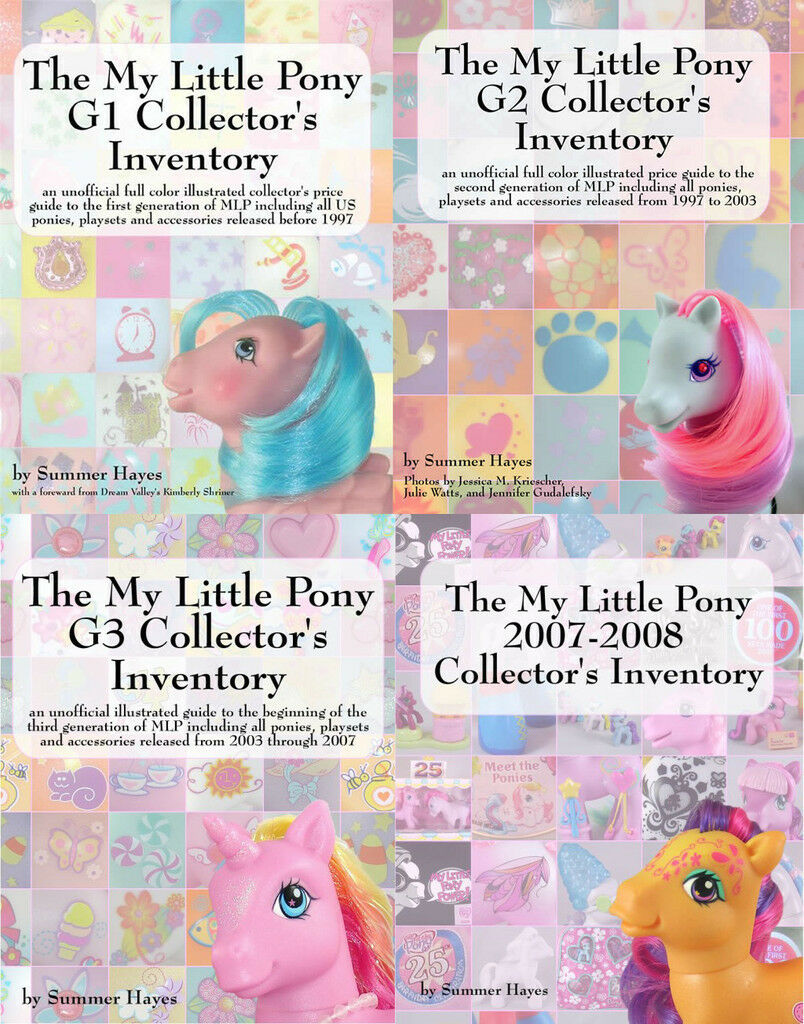 The My klein Pony Collector's Inventory serie G1 G2 G3 2007-2008 Preis Guides
