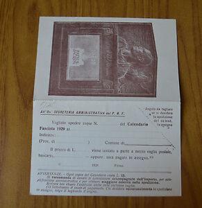 Calendario 1929.Dettagli Su Cartolina Partito Nazionale Fascista Calendario 1929 Non Viaggiata Subalpina Yy