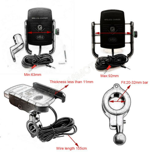 Phone Holder Wireless USB Charger For Harley Davidson Street Glide Touring FLHX
