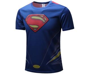 Superman t-shirt new movie comics jersey dc fitness super hero cool shirts