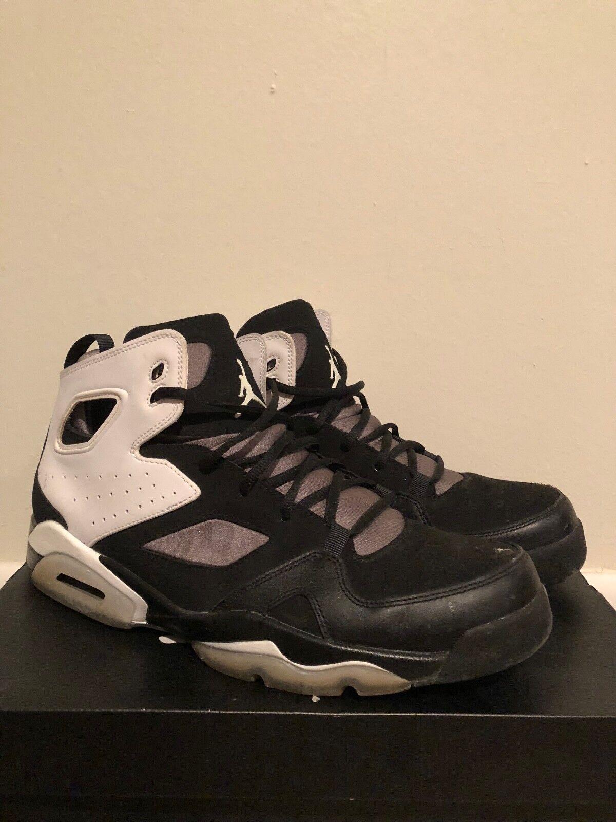 schwarz basketballschuhe & WEISS jordan flug basketballschuhe schwarz w / box 577f94