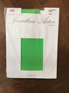 99f6373a7ed9e Image is loading Jonathan-Aston-40-Denier-Opaque-Green-Tights-New-