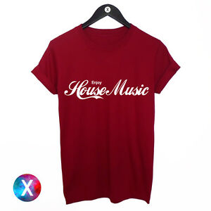 ENJOY-HOUSE-MUSIC-PRINTED-MENS-TSHIRT-DANCE-DJ-COOL-TEE-YOUTH-TOP-CLUB-TUMBLR
