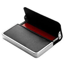 Premium Leather Fashion Business ID Credit Card Holder Box Pocket Wallet Cases
