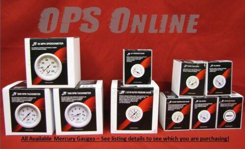 7K Tachometer /& Volts Temp Fuel Mercury Outboard Analog Gauge Set White