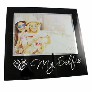 Details About Lot Bulk New 36 Selfie Picture Frames Wrhinestones Photo 5x7 Black Glass Bling