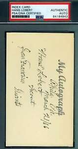 Hans-Lobert-PSA-DNA-Coa-Autograph-Hand-Signed-3x5-Index-Card
