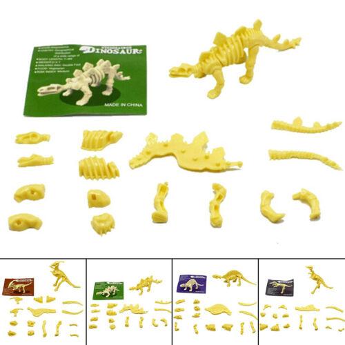 PVC Assorted Dinosaur Fossil Skeleton Figures Kids Toy Kid Child Toys Green