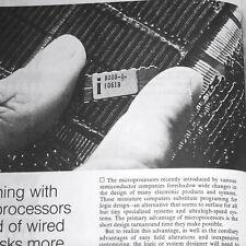 1975 Early 4/8/12 Bit Microprocessors Intel 4004 Z80 SC/MP Fairchild F8 Rockwell