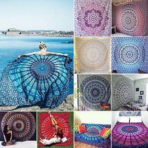 Hippie-Indisch-Mandala-Tapisserie-Wandteppich-Wandbehang-Strandmatte-Strand-Deko