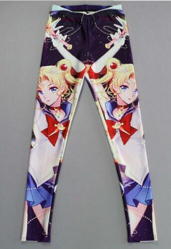 Woman legging Cartoon Sailor moon printed elastic legging S-4XL legging 806