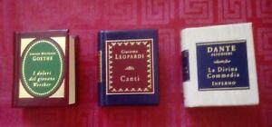 Lotto-n-3-Mini-Libri-De-Agostini-G-Leopardi-Canti-D-Alighieri-Inferno-e