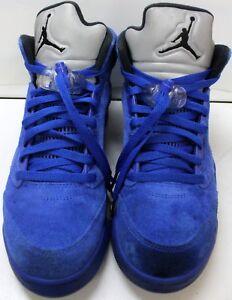 ba4e4fbe9983 Nike 136027-401 Air Jordan V Retro 5 Blue Suede Game Royal Size 9 ...